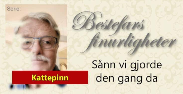 Denne gang om Kattepinn og hvordan vi spilte dette. www.johnsteffensen.no