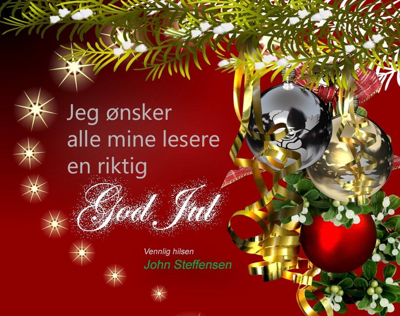 johnsteffensen.no ønsker deg en riktig god jul!