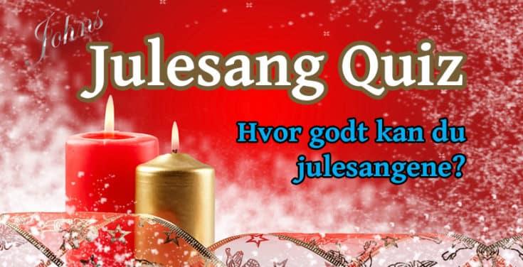 Hvor godt kan du julesangene? Sjekk denne interaktive quizen om julens sanger. www.johnsteffensen.no