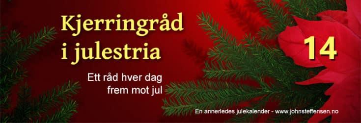 Kjerringråd o julestria er årets julekalender. www.johnsteffensen.no