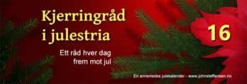Kjerringråd i julestria er årets julekalender på johnsteffensen.no. I dag handler det om solbrenthet...