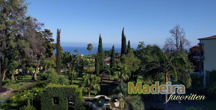 Et utsnitt av den mildt sagt praktfulle hagen til Madeira-hotellet Quinta Jardins do Lago. Foto - www.johnsteffensen.no