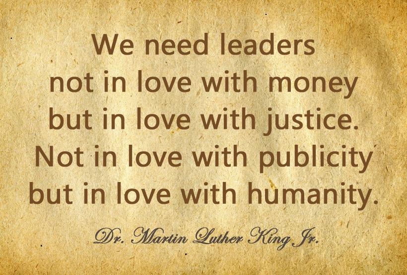 Berømte ord fra en berømt person; Dr. Martin Luther King Jr. - www.johnsteffensen.no