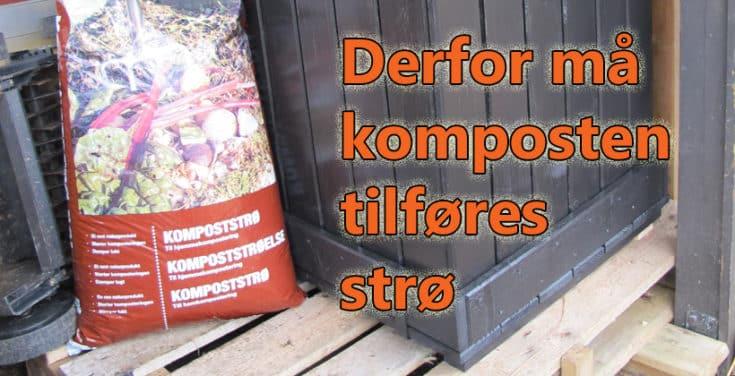 Det er flere grunner til at strø er viktig i komposten. www.johnsteffensen.no