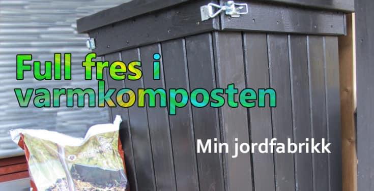 Jeg har to jordfabrikker i min hage; varmkompost og kaldkompost. Dette er varmkompostbeholderen. www.johnsteffensen.no