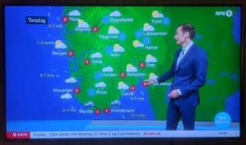 NRK sin værgrafikk er bedre enn TV2s. For noen år siden var det motsatt. www.johnsteffensen.no