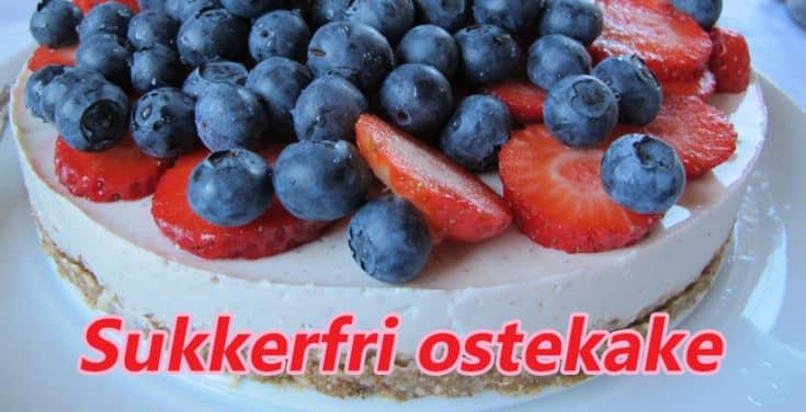 Sukkerfri ostekake. Foto: John Steffensen for www.johnsteffensen.no