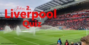 Interaktiv quiz. Liverpool FC – LFC quiz nr 2
