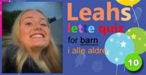 Leahs lette quiz – 10: Sid