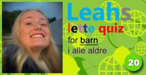 Leahs lette quiz – 20: Bukkene Bruse