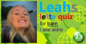Leahs lette quiz – 23: Finland