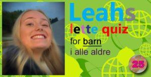 Leahs lette quiz – 25: Stebrødre